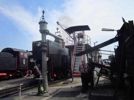 Tankowanie lokomotywy