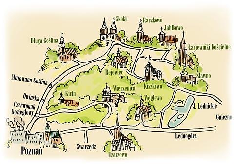 Mapa szlaku (ze strony czerwonak.pl)