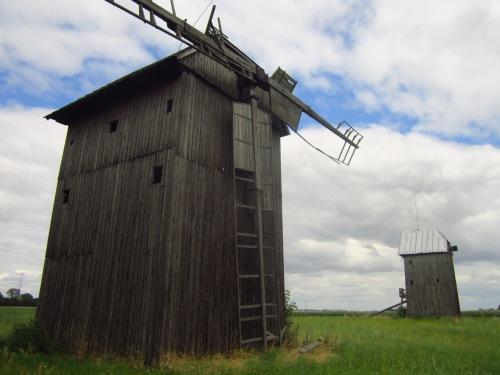 Drewniane wiatraki w Koszutach